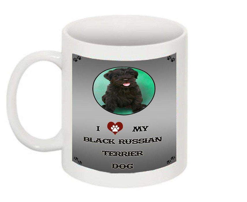 I Love My Black Russian Terrier Dog Mug