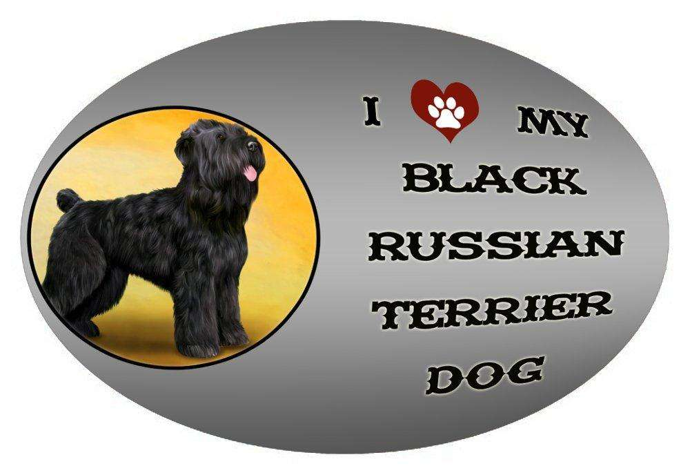 I Love My Black Russian Terrier Dog Oval Envelope Seals