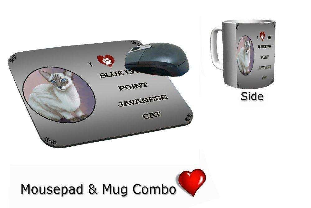 I Love My Blue Lynx Point Javanese Cat Mug & Mousepad Combo Gift Set