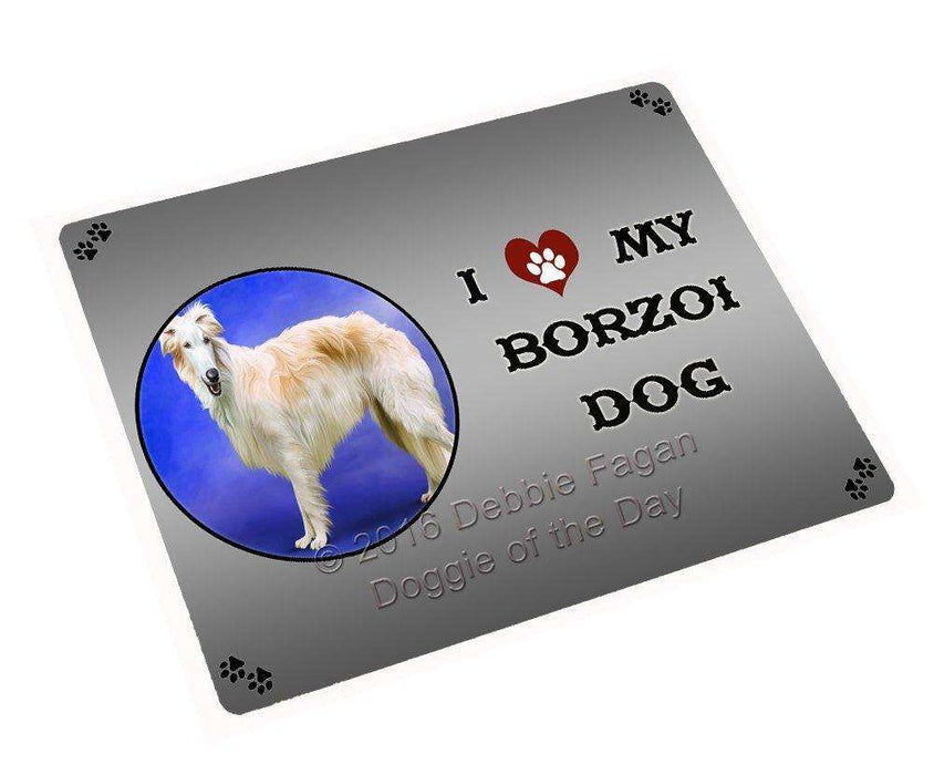I Love My Borzoi Dog Magnet