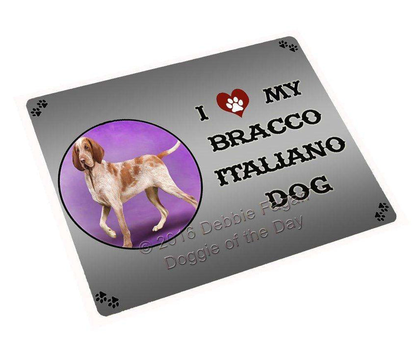 "I Love My Bracco Italiano Dog Magnet Mini (3.5"" x 2"")"