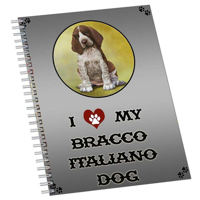 I Love My Bracco Italiano Dog Notebook