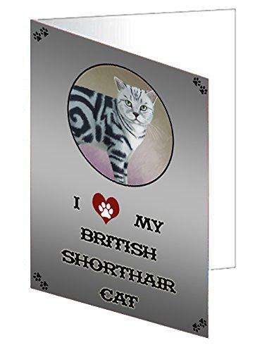 I Love My British Shorthair Cat Greeting Card