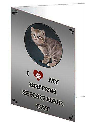 I Love My British Shorthair Cat Note Card
