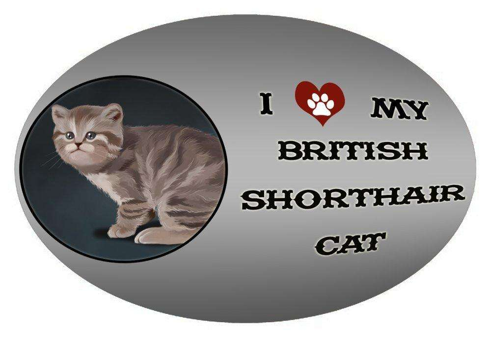 I Love My British Shorthair Cat Oval Envelope Seals