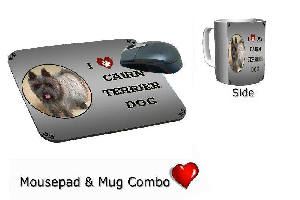 I Love My Cairn Terrier Dog Mug & Mousepad Combo Gift Set