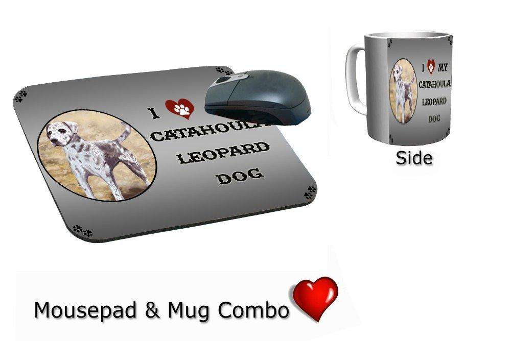 I Love My Catahoula Leopard Dog Mug & Mousepad Combo Gift Set