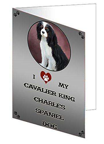 I Love My Cavalier King Charles Spaniel Dog Note Card