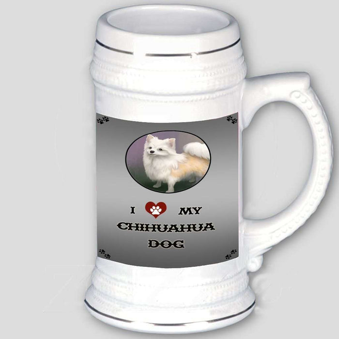 I Love My Chihuahua Dog Beer Stein