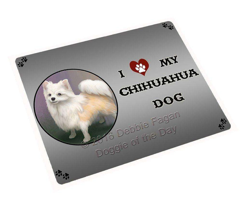 "I Love My Chihuahua Dog Magnet Mini (3.5"" x 2"")"