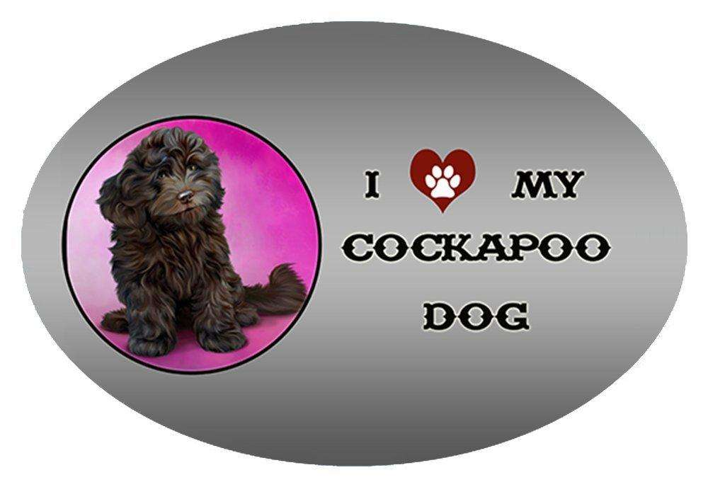 I Love My Cockapoo Dog Oval Envelope Seals