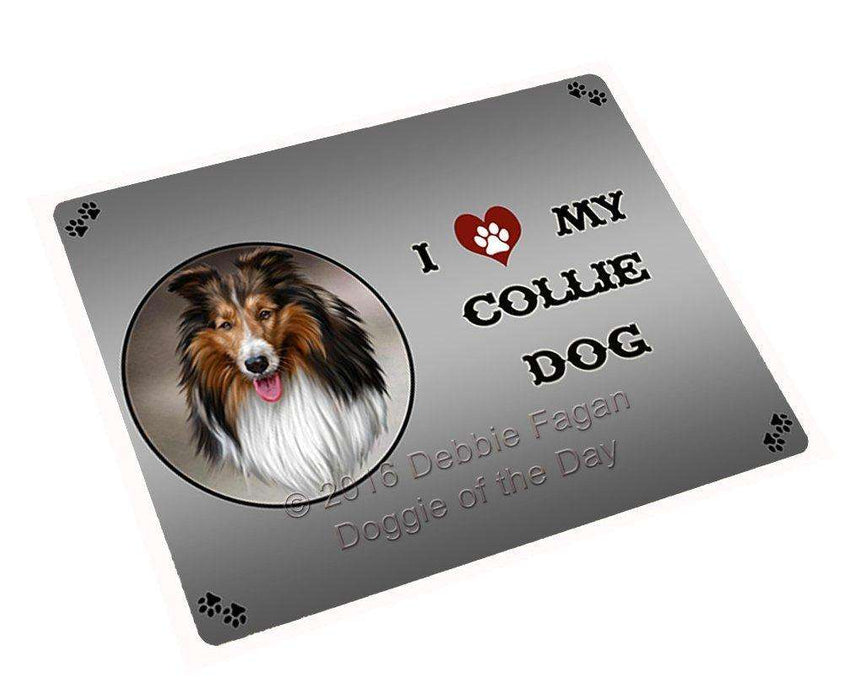"I Love My Collie Dog Magnet Mini (3.5"" x 2"")"