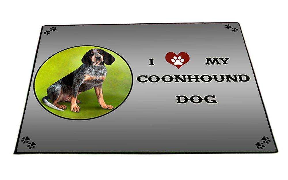 I Love My Coonhound Bluetick Dog Indoor/Outdoor Floormat