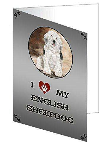 I love My English Sheepdog Note Card