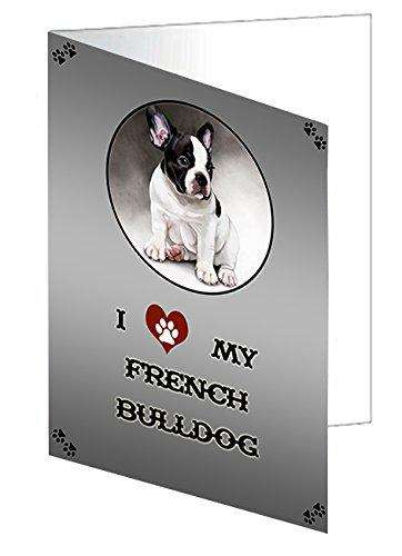 I love My French Bulldog Greeting Card