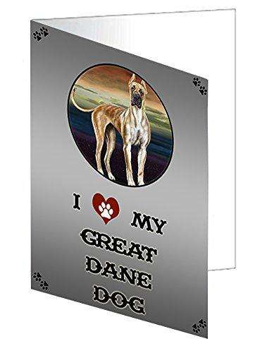 I love My Great Dane Dog Note Card