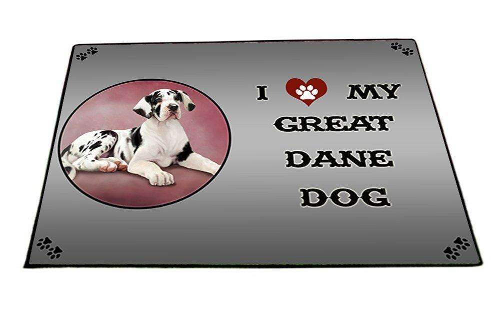 I Love My Great Dane Puppy Dog Indoor/Outdoor Floormat