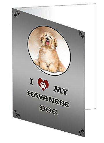 I love My Havanese Dog Greeting Card