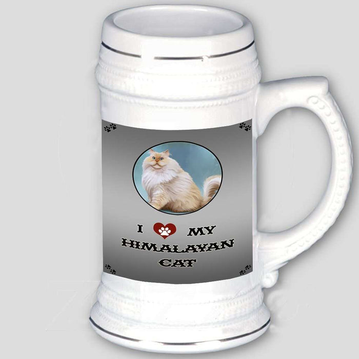 I Love My Himalayan Cat Beer Stein