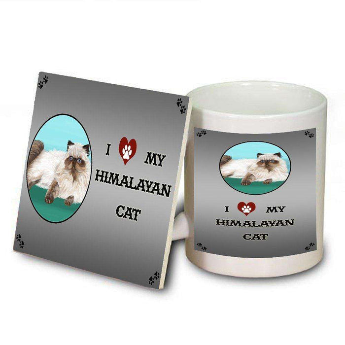 I Love My Himalayan Cat Mug and Coaster Set