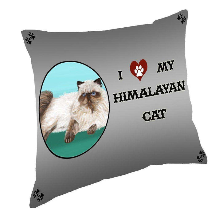 I Love My Himalayan Cat Throw Pillow