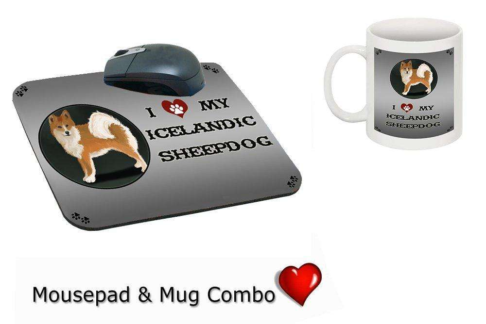 I Love My Icelandic Sheepdog Mug & Mousepad Combo Gift Set
