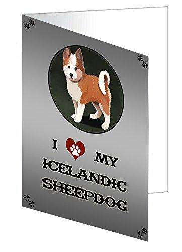 I love My Icelandic Sheepdog Puppy Dog Note Card