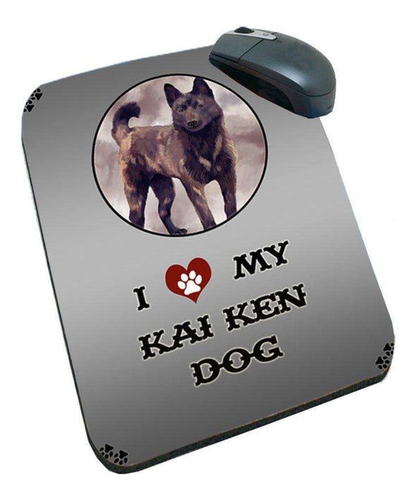 I Love My Kai Ken Dog Mousepad