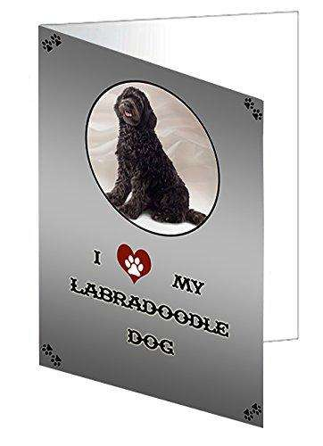 I love My Labradoodle Dog Greeting Card