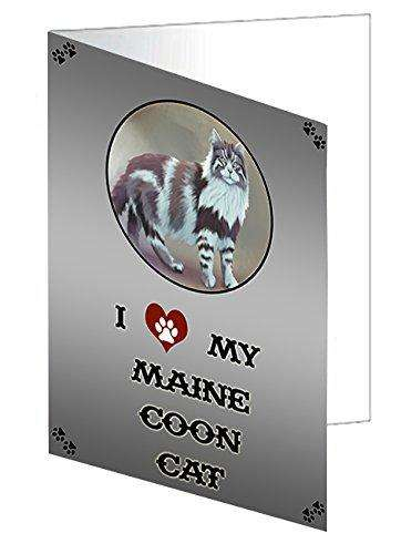 I love My Maine Coon Cat Note Card