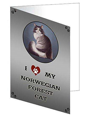 I Love My Norwegian Forest Cat Greeting Card