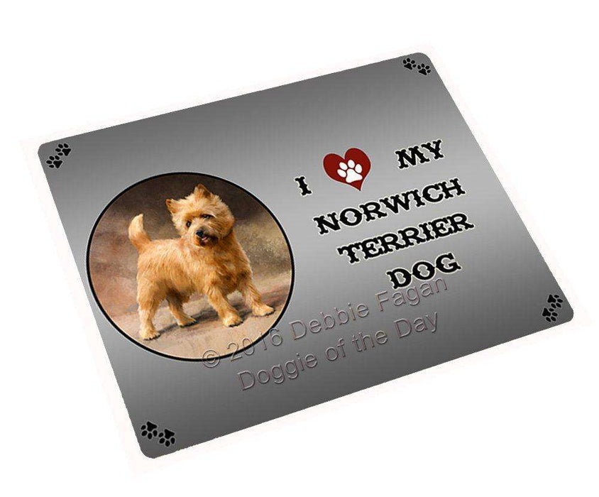 I Love My Norwich Terrier Dog Large Refrigerator / Dishwasher Magnet
