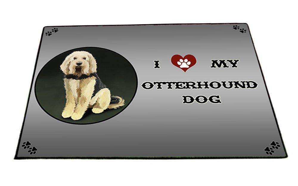I Love My Otterhound Dog Indoor/Outdoor Floormat