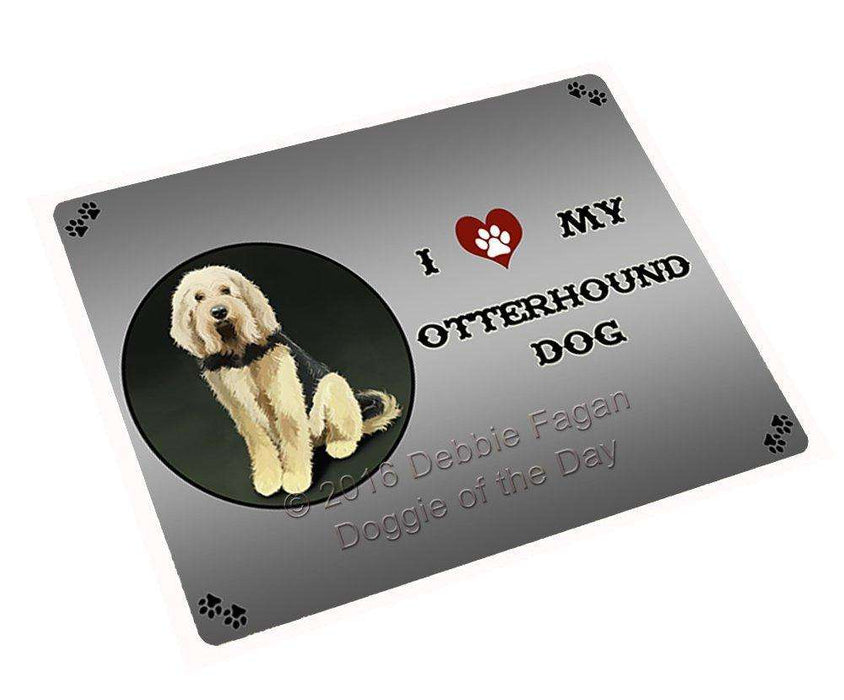 I Love My Otterhound Dog Large Refrigerator / Dishwasher Magnet