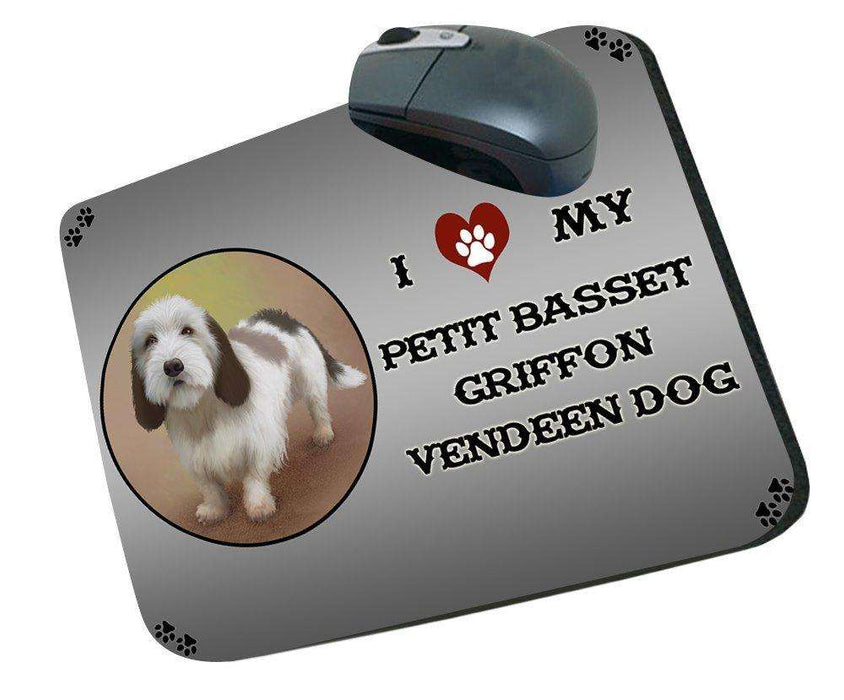 I Love My Petit Basset Griffon Vendeen Dog Mousepad