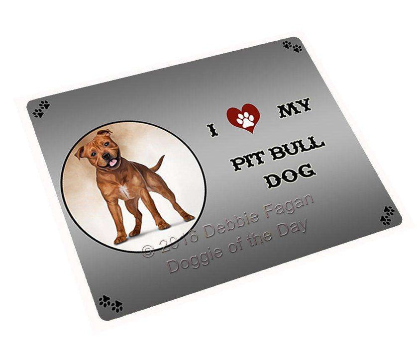 "I Love My Pit Bull Dog Magnet Mini (3.5"" x 2"")"