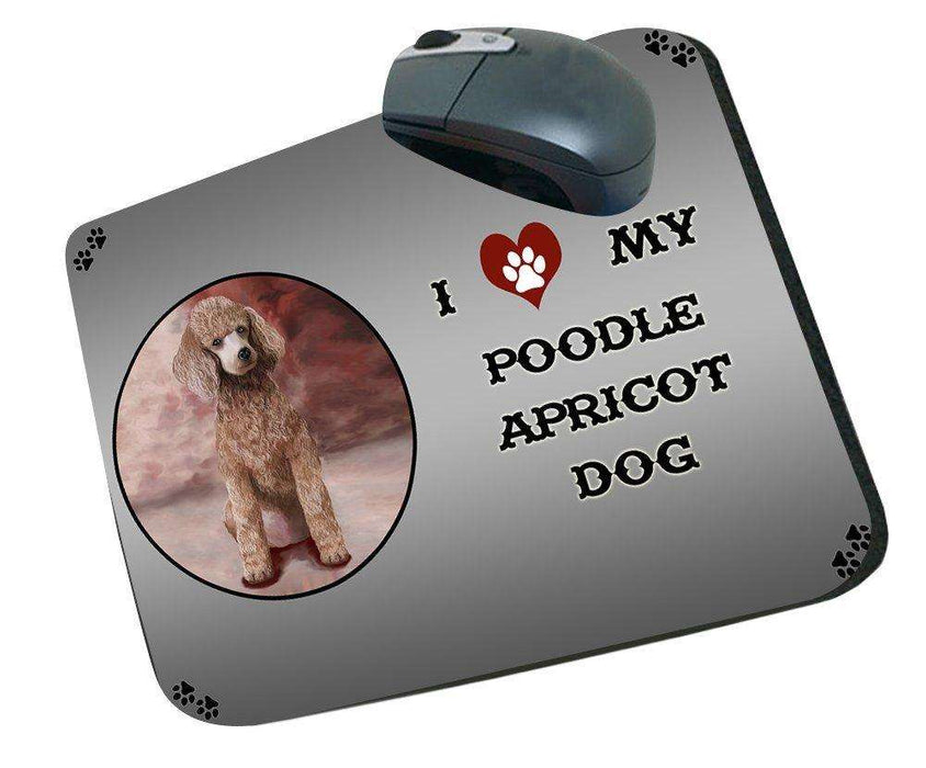 I Love My Poodle Apricot Dog Mousepad