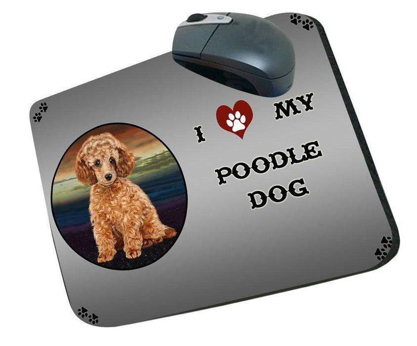I Love My Poodle Dog Mousepad