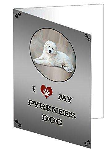 I Love My Pyrenees Dog Note Card