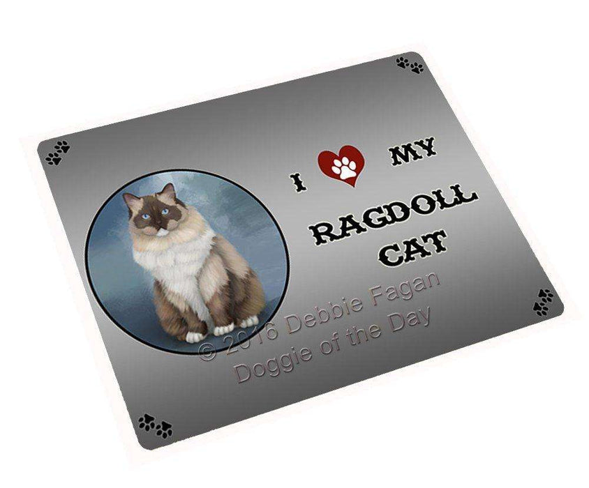 I Love My Ragdoll Cat Art Portrait Print Woven Throw Sherpa Plush Fleece Blanket