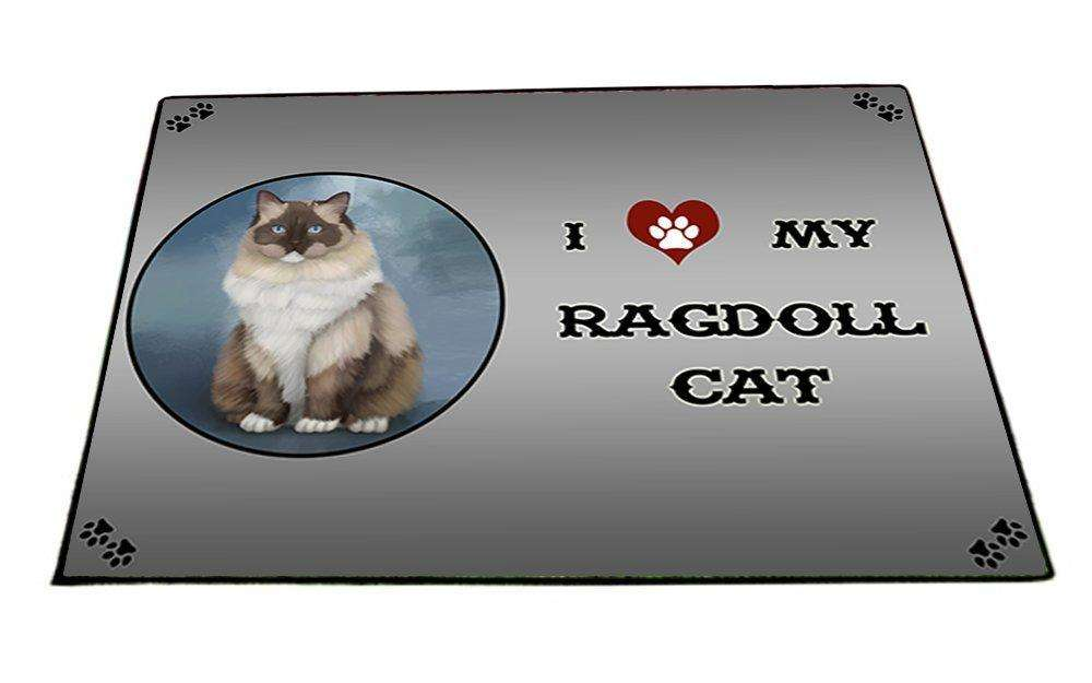 I Love My Ragdoll Cat Indoor/Outdoor Floormat
