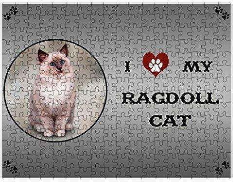I Love My Ragdoll Cat Puzzle with Photo Tin