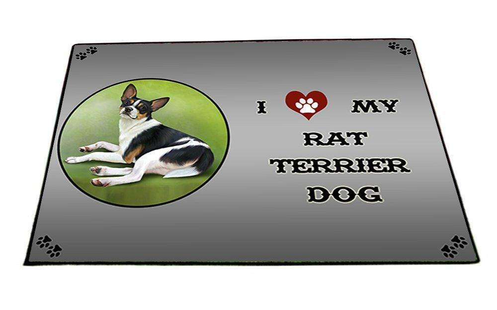 I Love My Rat Terrier Dog Indoor/Outdoor Floormat