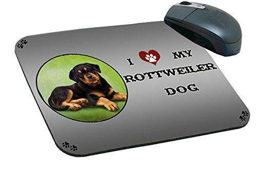 I love My Rottweiler Puppy Dog Mousepad