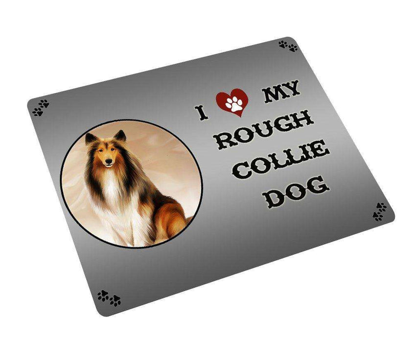 I love My Rough Collie Dog Large Refrigerator / Dishwasher Magnet D195