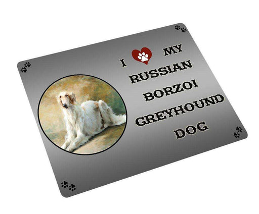 "I Love My Russian Borzoi Greyhound Dog Magnet Small (5.5"" x 4.25"")"