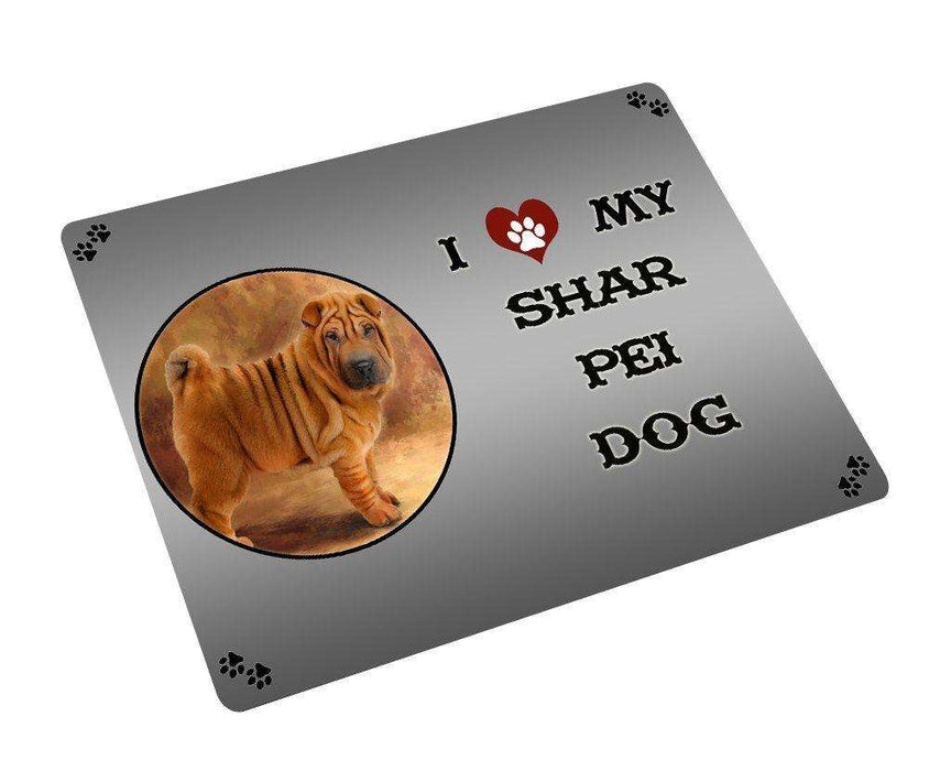 I love My Shar Pei Dog Large Refrigerator / Dishwasher Magnet D214