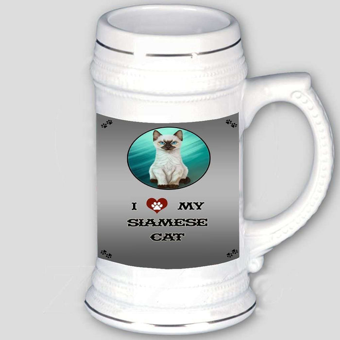 I love My Siamese Kitten Cat Beer Stein