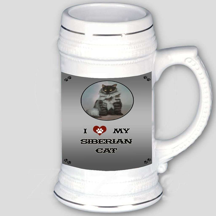I love My Siberian Cat Beer Stein