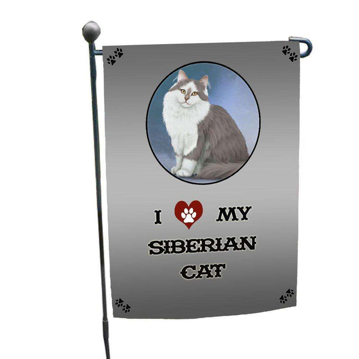 I love My Siberian Cat Garden Flag